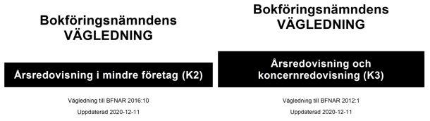 Förstasidor uppdaterade K2 ÅR och K3