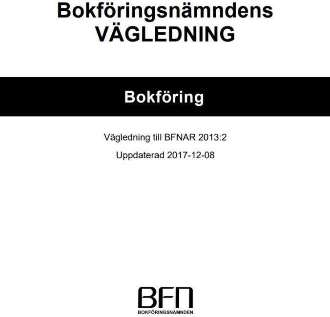 BFNAR 2013:2 Bokföring ska uppdateras