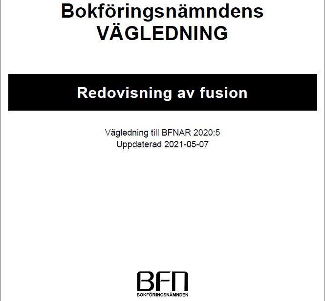 Redovisning av Fusion (BFNAR 2020:5) uppdaterad 5 juli 2021