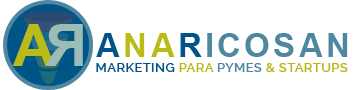 Logo AR Marketing para Pymes. |anaricosan| Consultoría Digital