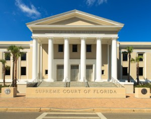 State Supreme Court building in Tallahassee, Florida.