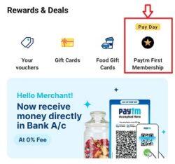Paytm First Membership Free