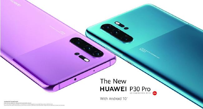 Huawei P30 Pro disponível em azul e rosa