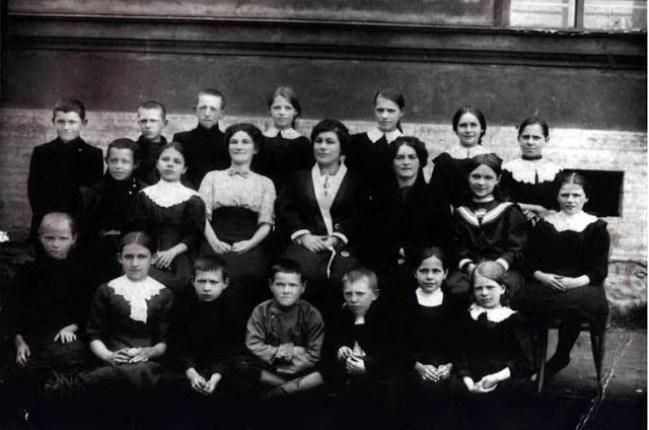 Крестьянские дети - ученики Рыбацкого Высшего Начального Училища