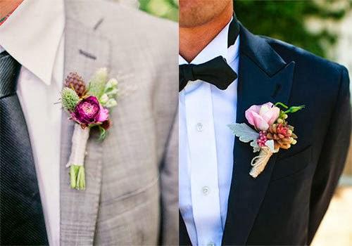 Las flores también son para el novio