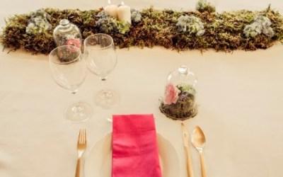 Las mesas se visten de flores
