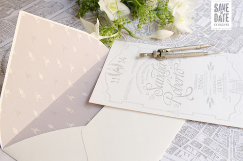 Papelería perfecta por Save the date