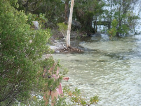 Water was lapping around the focal point from Boorangoora 1 on 15/3/13