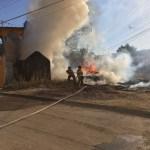 Arde un jacal en calles de la Héctor Mayagoitia