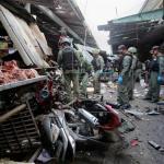 Al menos 3 muertos al estallar una bomba en un mercado del sur de Tailandia