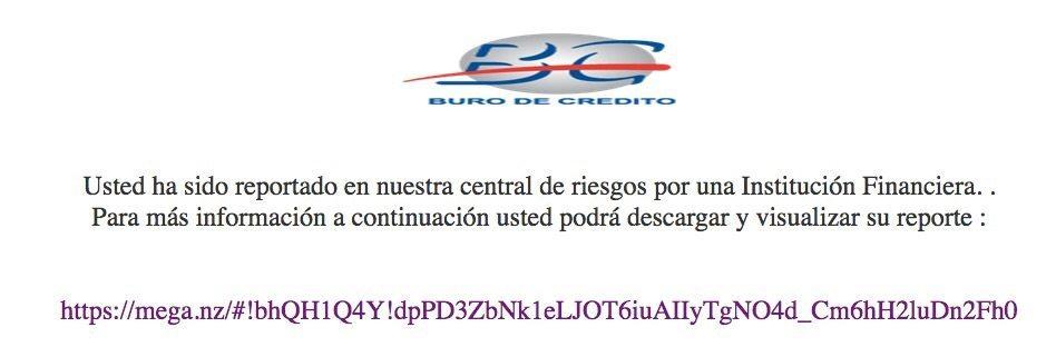 Buro De Credito Alerta Sobre Falso Correo