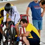 Tres de tres oros para Colombia en las pruebas de ciclismo de pista
