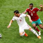 Marruecos e Irán empatan a cero al descanso