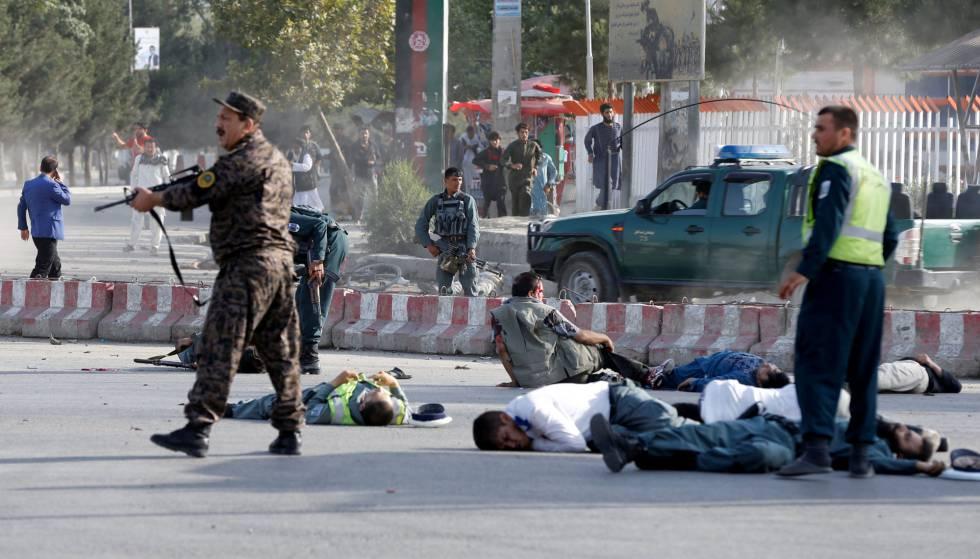 Image result for 15 muertos en un atentado tras llegar vicepresidente afgano