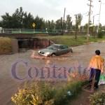 Llovió a cántaros durante la tarde en la mayor parte la ciudad, varias colonias y fraccionamientos con afectaciones