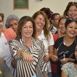 Leticia Herrera ofrece apoyo y dar más vida al parque deportivo y centro comunitario del cerro de la pila