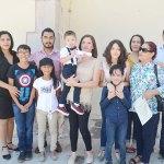 El pequeño Santiago Moshe Ontiveros Hernández recibió las aguas benditas del Jordán