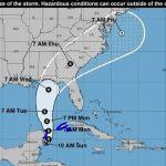 Depresión se convierte en tormenta tropical Michael en su camino a Florida