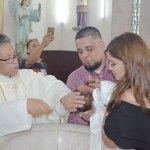 Bañaron con la aguas del Jordán a la pequeña Samara Elizabeth Ibarra Nájera
