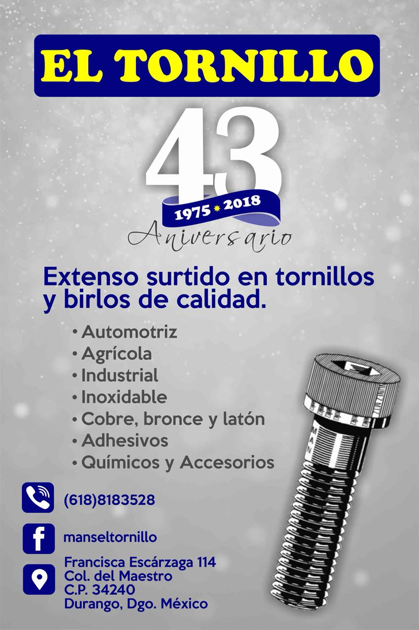 El Tornillo | Tel. 618 8183528