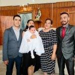 Ceremonia bautismal de la pequeña Eva Sarahí Ramírez Cano