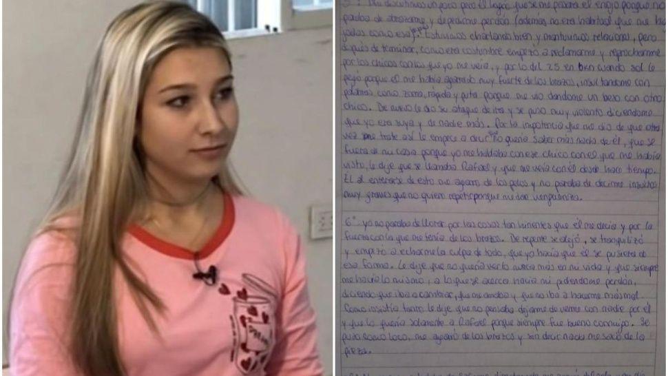 Filtran inédita carta de Nahir Galarza sobre la violencia de Fernando Pastorizzo