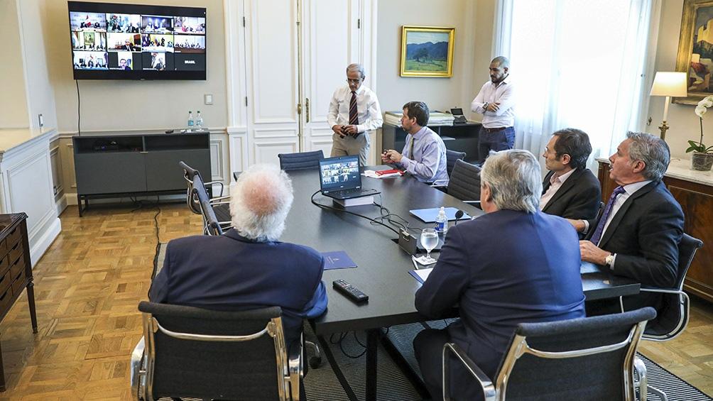 EMERGENCIA SANITARIA  Coronavirus: el Presidente se reunió con su gabinete y dialogó con sus pares de la región