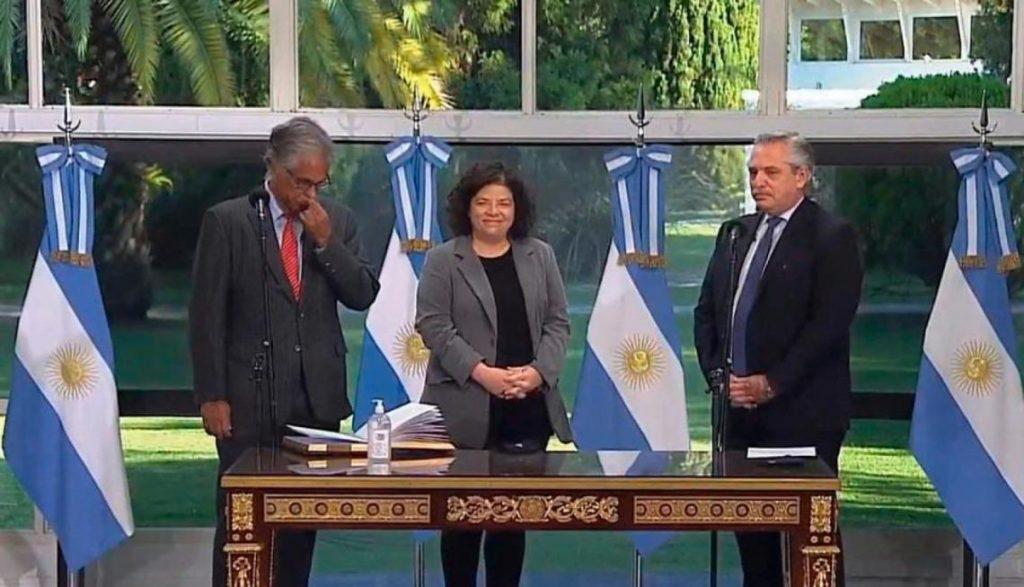 Tras la renuncia de Ginés González García, Carla Vizzotti juró como nueva ministra de Salud