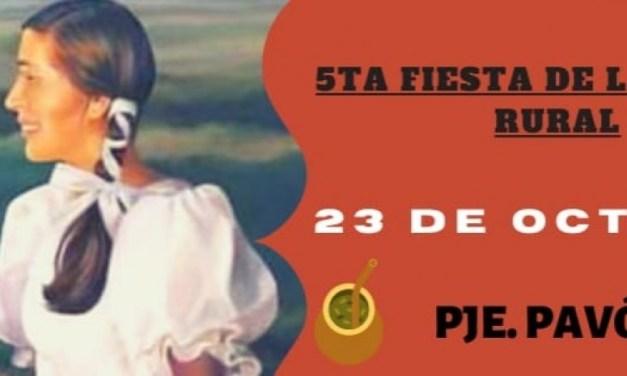 Pavón vivirá la 5° Edición de la Fiesta de la Mujer Rural