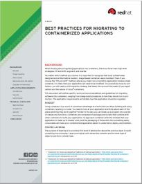 Best Practices For Migrating To Containerized Applications