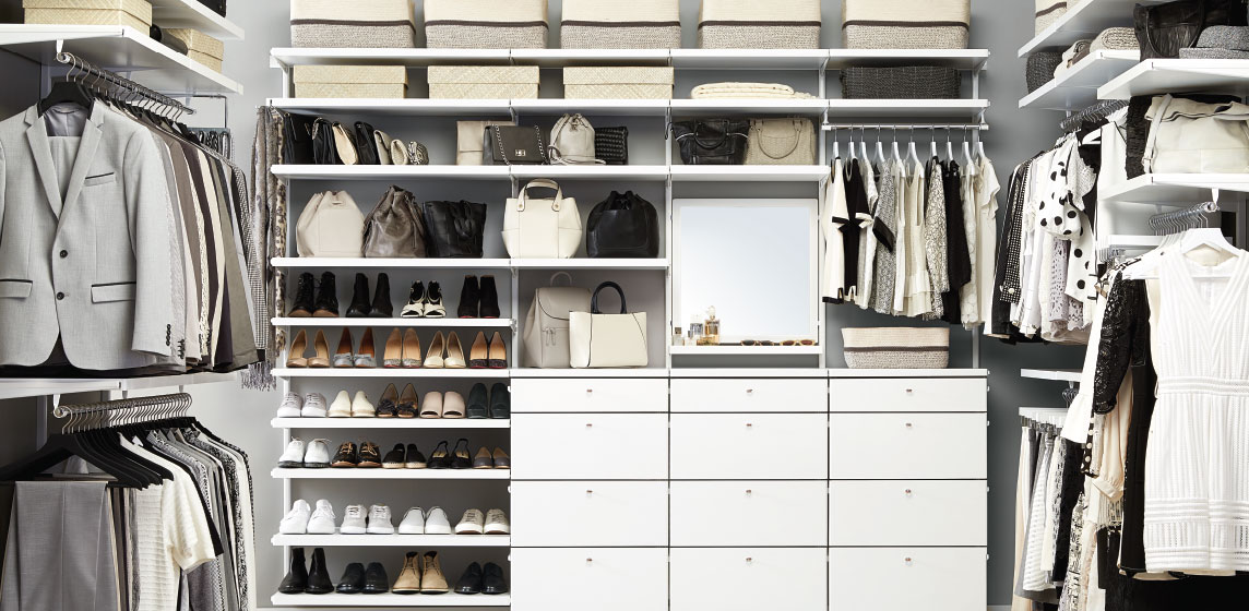 Elfa Custom Closet Shelving Organizer Systems Custom