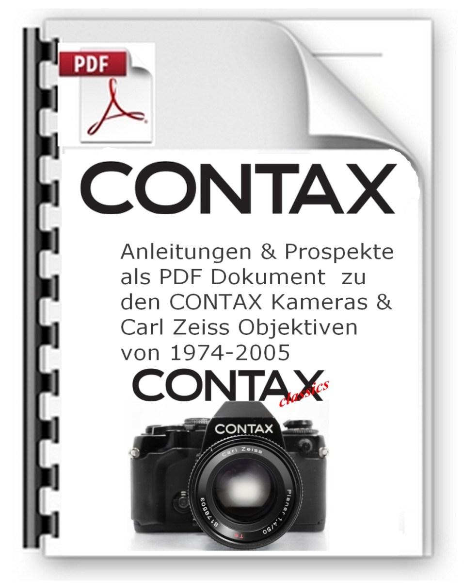 CONTAX Kamera Prospekte, Infos, Anleitungen zum download
