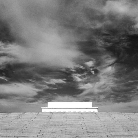 B&W Lincoln Memorial