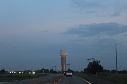water tower red