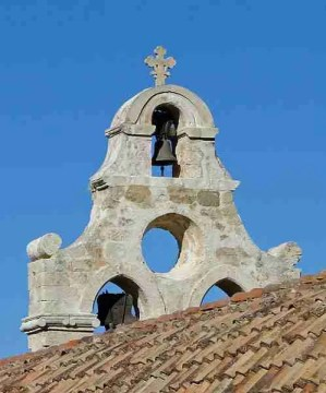 Main bell of the church of the Arkadi Monastery, Crete, Greece. Photo Credit: Wikipedia Commons.