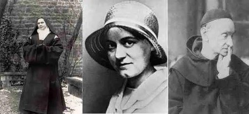 Blessed Elizabeth of the Trinity, Edith Stein circa 1920, and St. Raphael Kalinowski. (All photos from Wikipedia.)