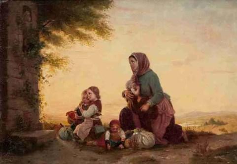Johann_Georg_Meyer_von_Bremen_Mutter_mit_Kindern_vor_einem_Bildstock