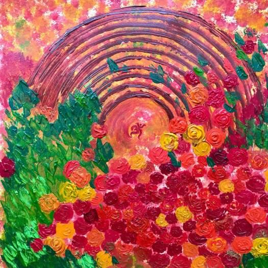 painting roses art cake