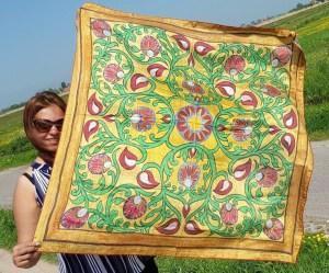 silk scarf fashion painting