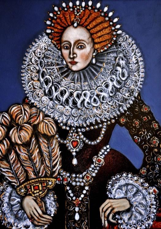 Painting Queen Elizabeth 1 cake artist