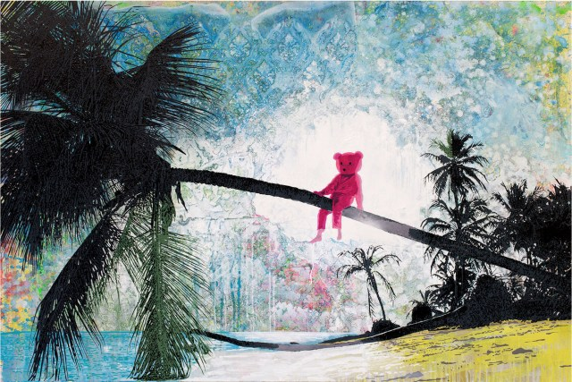 Pink Bear art by Paul Robinson