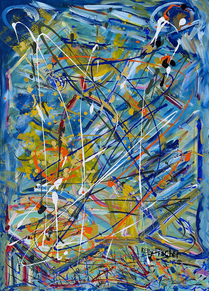 Safety Net. Acrylic on Canvas.60