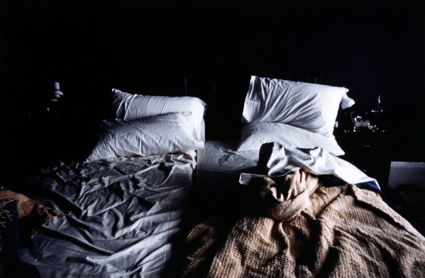 Nan Goldin, Empty beds, Boston (1979). Cibachrome print, 17 5/8 x 21 5/8 inches. Image courtesy of The Museum of Contemporary Art, Los Angeles, The Nimoy Family Foundation.