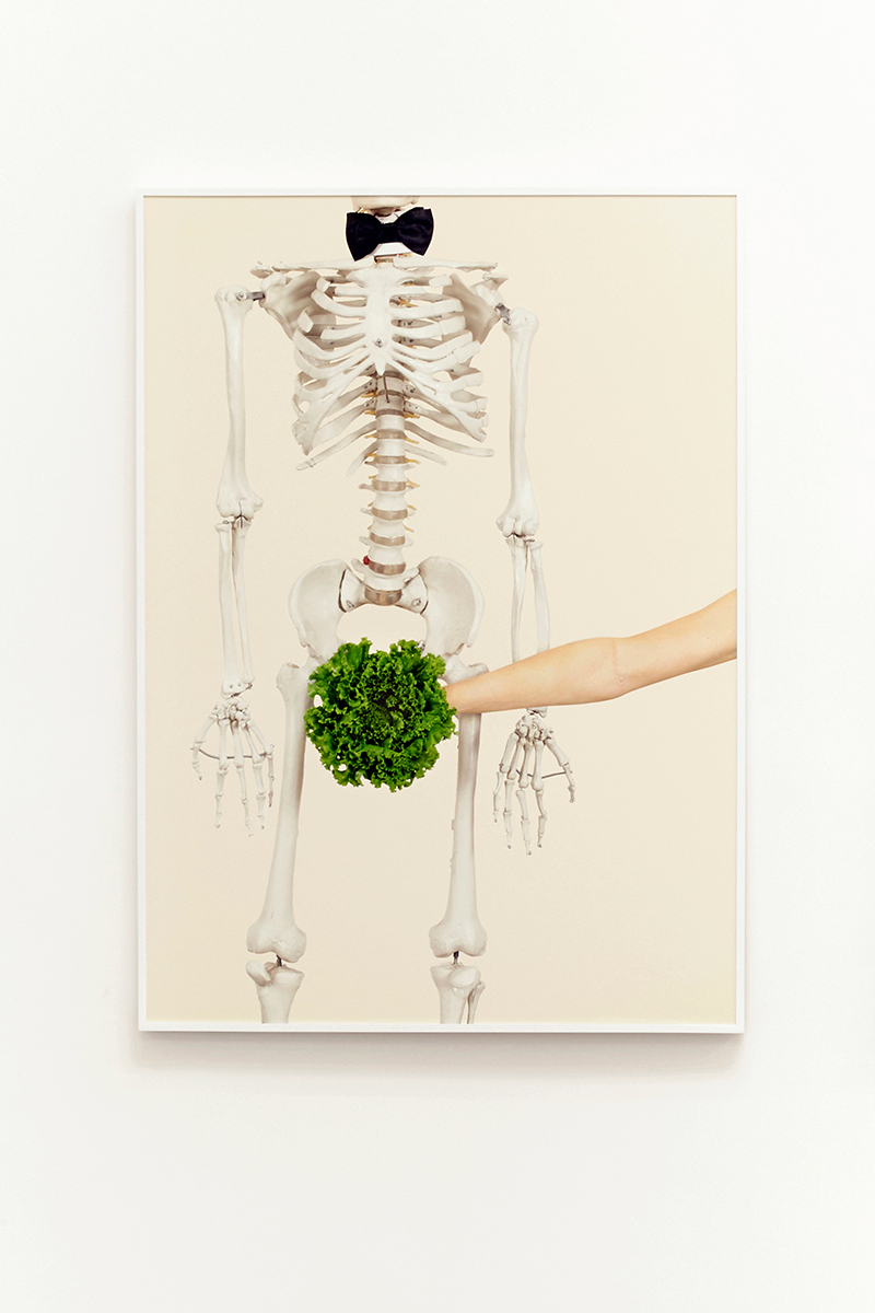 Juliana Paciulli, Uh-Huh (Skeleton)(2015). Archival pigment print in artist's frame, 28 x 39 inches. Image courtesy of the artist and Greene Exhibitions.