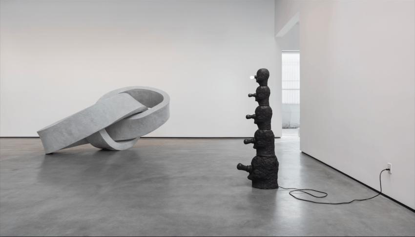 Evan Holloway  (2016) at David Kordansky Gallery (installation view). Image courtesy of David Kordansky Gallery, Los Angeles, CA. Photo: Brian Forrest.