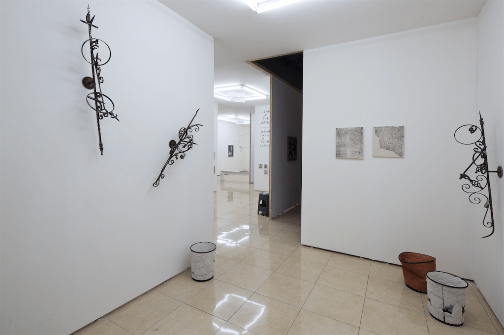 Work by Santiago Taccetti and Asger Dybvad Larsen at Galerie Rolando Anselmi, Material Art Fair 2016, Mexico City. Image courtesy of Material Art Fair. Photo: Ramiro Chaves.