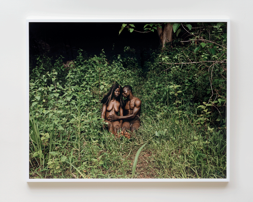 Deana Lawson, The Garden, Gemena, DR Congo (2015). Photographic print. Image courtesy of the Museum of Contemporary Art, Los Angeles. Collection of the artist. Photo: Justin Lubliner.