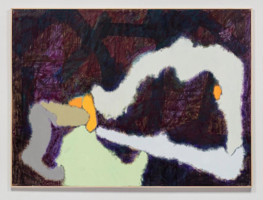 Daniel Richter, Das unbekannte Meisterwerk (2016). Oil on canvas, 79.75 x 107.5 x 1.75 inches. Courtesy the artist and Regen Projects, Los Angeles.