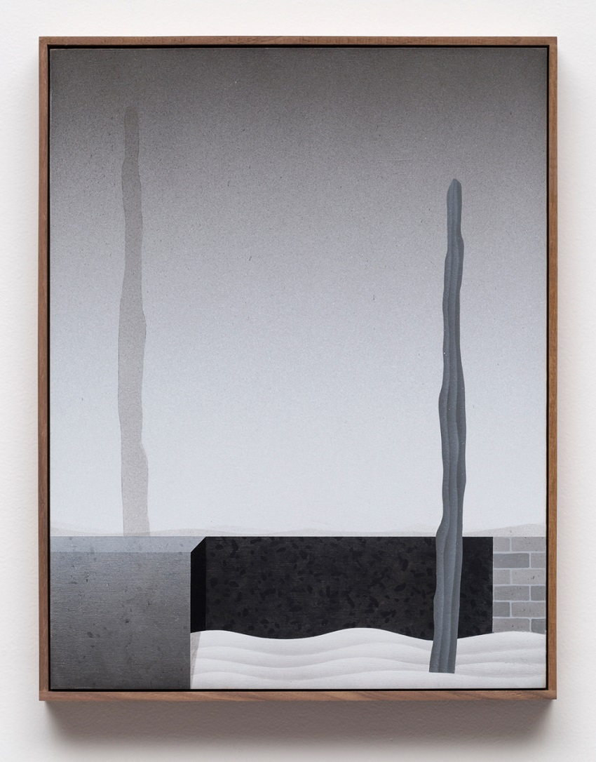 Brian Robertson, Always On My Mind (2016). Acrylic on panel, walnut artist's frame, 18.75 x 14.75 inches. Image courtesy of the artist and CES Gallery.