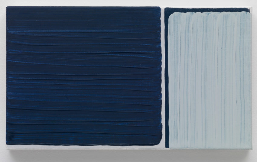 Yui Yaegashi, exchange (2016). Oil on canvas. 9.25 x 5.5 inches. Image courtesy of the artist and Parrasch Heijnen.